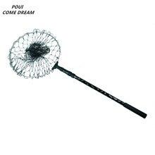 1.8m dip net folding tuck telescopic spoon non-slip comfort handle brail nylon fishing Aluminum alloy rod TOOL