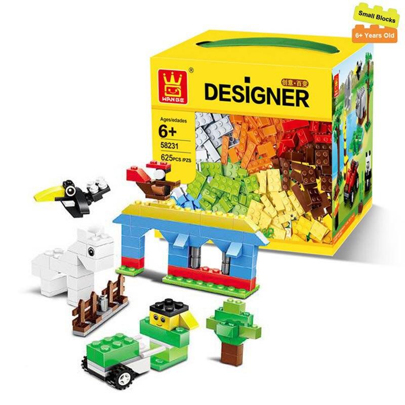 625 Pcs Building Blocks City DIY Creative Bricks Toys For Child Educational Wange Building Block Bricks Compatible With Lego 1000 pcs small building blocks diy creative bricks toys for children educational compatible with major brand blocks page 1