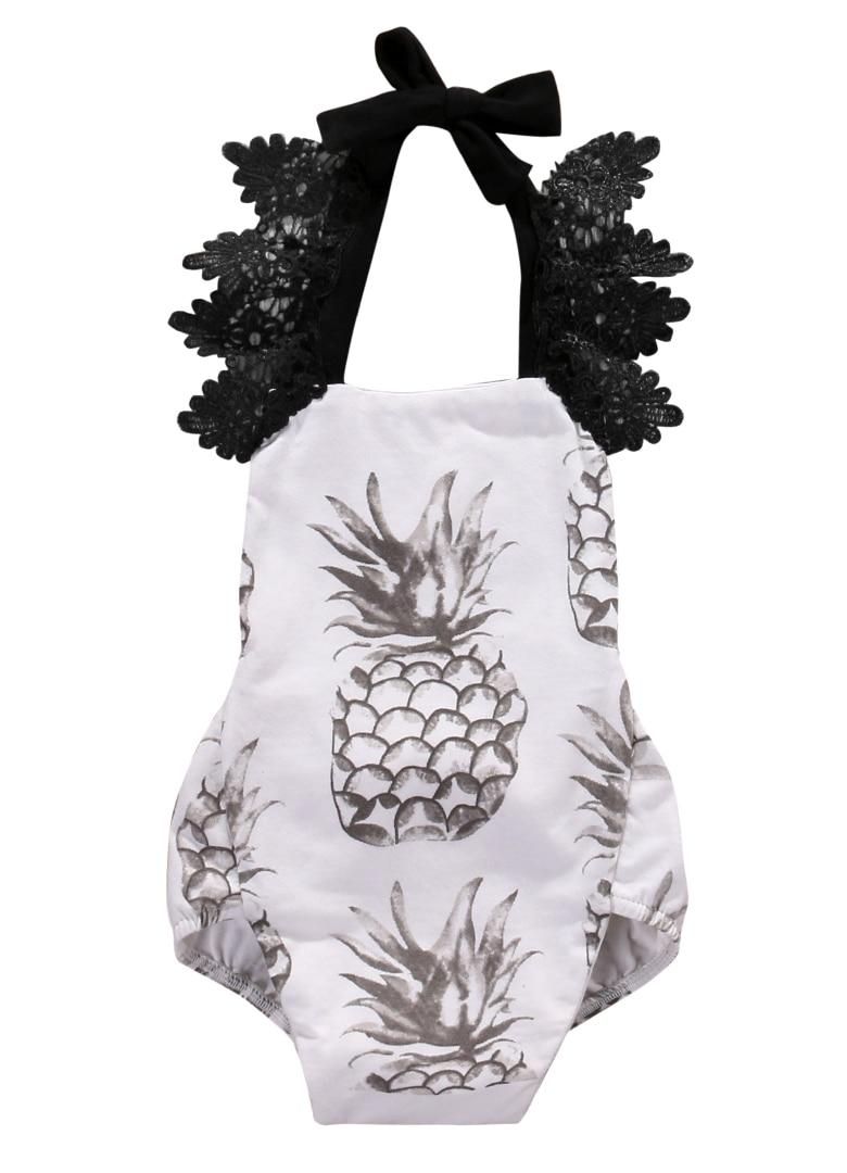 cd7715fd6 Newborn Baby Girls Floral Romper Baby Girls Lace Fruit pineapple ...