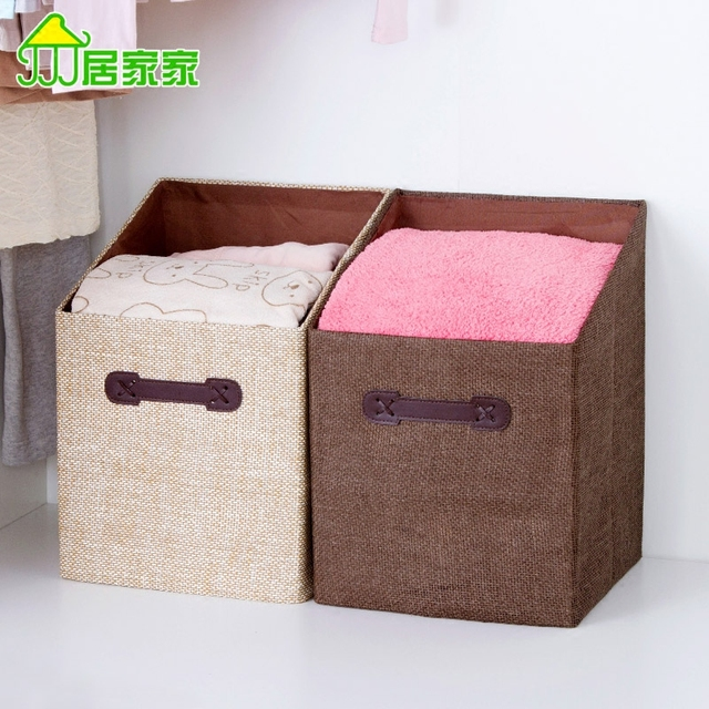 Merveilleux Household Cloth Collapsible Clothes Sorting Boxes Of Clothing Storage Box  Toy Closet Storage Box