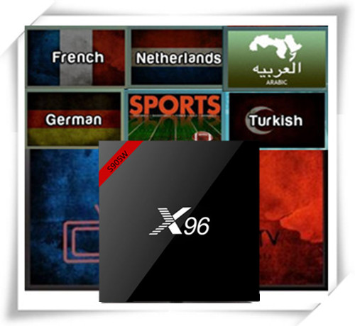FrenchTV X96 Android 7 1 S905W 1G 8G With French Arabic Netherland UK CA Germany Poland