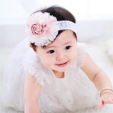 Vogue Pretty New child Hair Band Toddler Flower Hair Band Princess Kids Pink Headwear