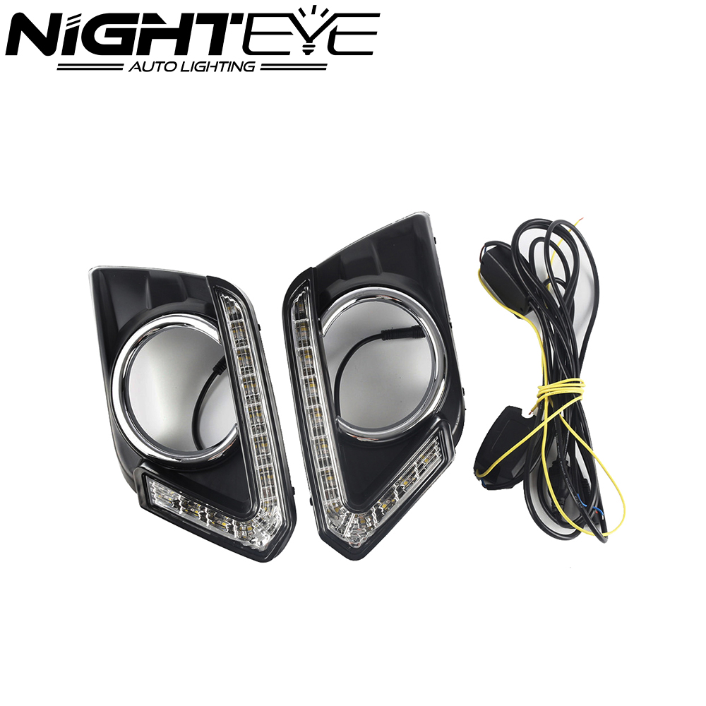 Auto Day Light LED Car DRL Driving Daytime Running Light Fog Lamp Fit For Nissan X-Trail 2014 2015 2016 Free Shipping led fog lamp drl daytime running light for nissan sunny versa drl car driving light 2014 2015 new