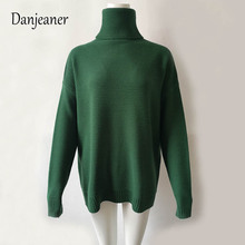 Danjeaner Knitted Pullovers Women Turtleneck Jumper Solid Warm Thick Winter Cable Female Streetwear Oversized Sweaters