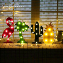 Novelty Luminaria LED Night Light Moon Cloud Light 3D Lamp Flamingo Cactus Star Nightlight Holiday Decor Lamp Background Setting