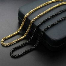 Stainless Steel Snake Chain Necklace for Men Women Chains Black Gold Color Choker Collier Trendy Jewelry 45-75cm Length