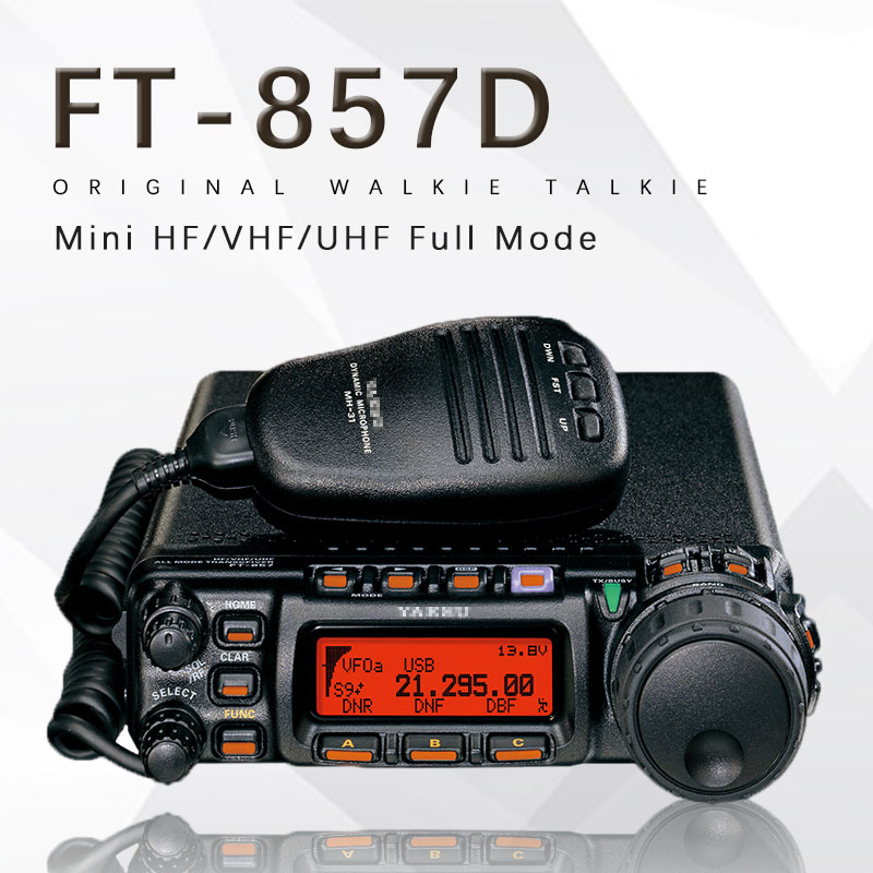 For The Yaesu FT-857D Car Dual Band Portable Amateur Radio Shortwave Ultrashort Mini Full Mode Car Radio Transceiver