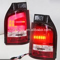 Para volkswagen t5 caravelle multivan led tail light red cor branco 2010-2014 ano sn tipo