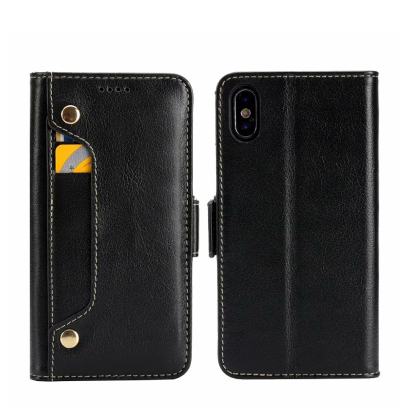 CKHB Real Genuine Leather Wallet Style Phone Case For iPhone X XS 10 IX Cell Phone