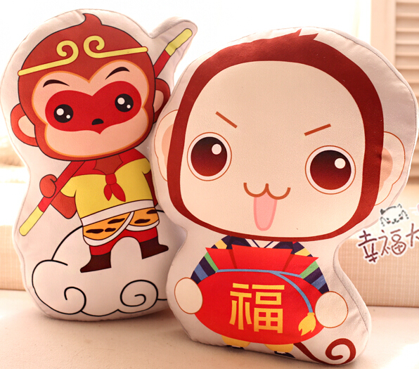 Candice guo plush toy stuffed doll cartoon lucky Sun Wukong Monkey Blessing anime pillow cushion birthday gift christmas present candice guo cute plush toy anime corgi pet shiba dog head hamburger cushion hand warm pillow birthday christmas gift 1pc