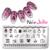 Jolie Nee Nee Jolie 10 Hojas/juego Nail Art Sello Plantilla NJX Rectángulo Placa de la Imagen 001-010 12*6 cm
