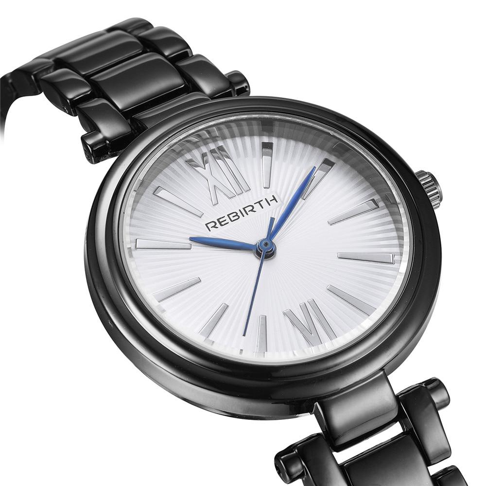 Фото Rebirth Fashion Classic New Women Stainless Steel Band Quartz Watch Retro Big Roman Number Analog Ladies Dress Wrist Watches
