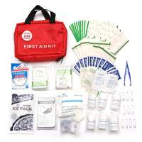 Safurance 230 Pieces First Aid Kit Emergency Set Kit Outdoor Wilderness Survival Medical Treatment Pack Set