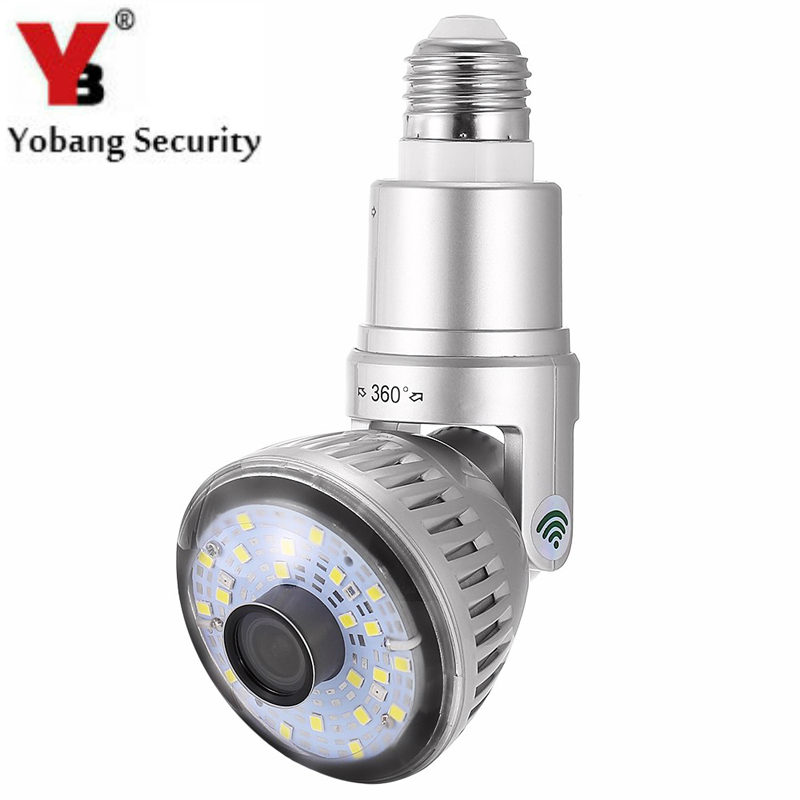 YobangSecurity Wireless Wifi P2P Network Camera LED Lamp Bulb Motion Detector Security DVR Camera Remote View 120 Degree wifi wlan wireless network signal detector keychain