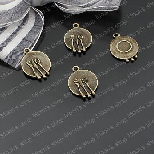 Wholesale Antique Bronze Plate Alloy Charms Pendants DIY Findings 30 pieces(JM1007)