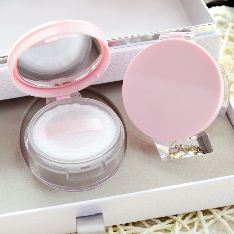 1pcs empty loose powder jar with sifter mirror Cosmetic plastic powder compact Makeup Sifter case Travel Sample subpackage Box 200pcs x 200g big frosted abs plastic cosmetic packaging bath salt jar with wooden spoon