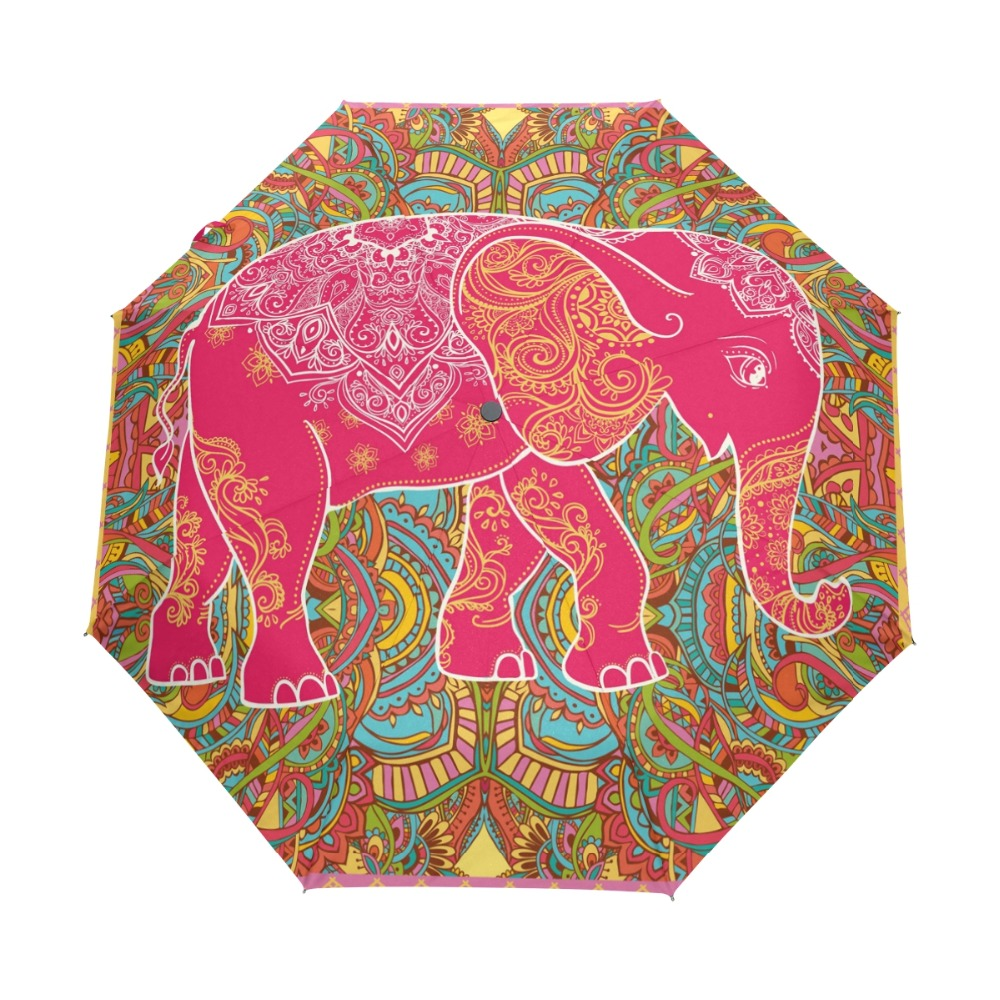 79c36af87448 Three Folding Cute polka dot pink Pattern Women Umbrella Ultralight ...