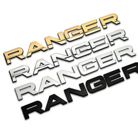 3cm Height Separate Letters Chrome Metal Refitting Car Styling Emblem Badge Auto Exterior 3D Sticker Hood Trunk for Range Rover