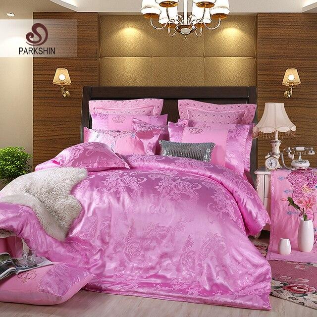 ParkShin Bedspread Double Queen King Bed Linen Euro Cotton Pillowcases Bedding Set Bed Sheet Duvet Cover Set Tencel Adult Bed