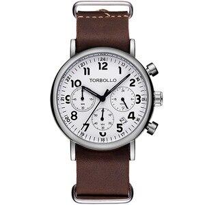 Image 3 - นาฬิกาข้อมือTORBOLLOแบรนด์หรูนาฬิกาทหารผู้ชายนาฬิกาควอตซ์Chronograph 6 มือนาฬิกาหนังผู้ชายนาฬิกาข้อมือกีฬาRelogio Masculino
