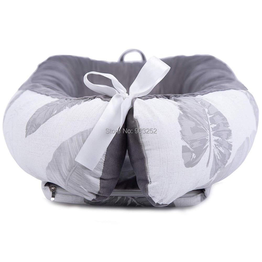 [Полностью разборный] детский шезлонг для новорожденного, двусторонняя переносная кроватка для сна