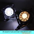 Car DRL kit for Toyota Land Cruiser FJ200 LG200 2015 LED Daytime Running Light Bar fog lamp bulb daylight car led drl light 12V