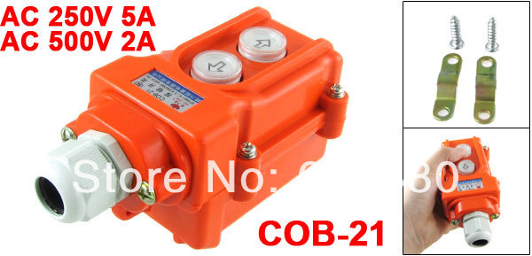 Cob 21 ac 250v 500v 5a 2a rain proof hoist crane pendant control cob 21 ac 250v 500v 5a 2a rain proof hoist crane pendant control station pushbutton push button switch up down w cable gland in switches from lights aloadofball Choice Image