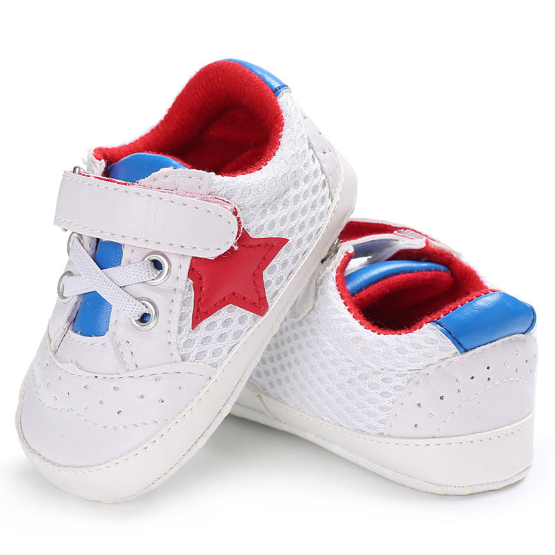 2018 New Baby Cack Soft Sole Five-pointed Star Toddler Autumn Casual PU Anti-slip Cute Children Newborn Baby Shoes ...