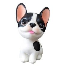 Car Ornament Resin Dog Doll Cute Automobiles Dashboard Bobblehead doll Toys Home Furnishing Accessories simulation Dog