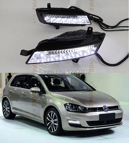 Free Shipping  !!! for VW Volkswagen GOLF 7 led drl Daytime Running Light Fog light !Car special  VW GOLF 7 LED DRL auto led car bumper grille drl daytime running light driving fog lamp source bulb for vw volkswagen golf mk4 1997 2006 2pcs