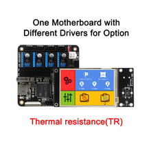 3DSWAY 3D Printer Motherboard Lerdge Board with Thermistor ARM 32-bit Controller DIY Kit with 3.5″ TFT Touch Screen