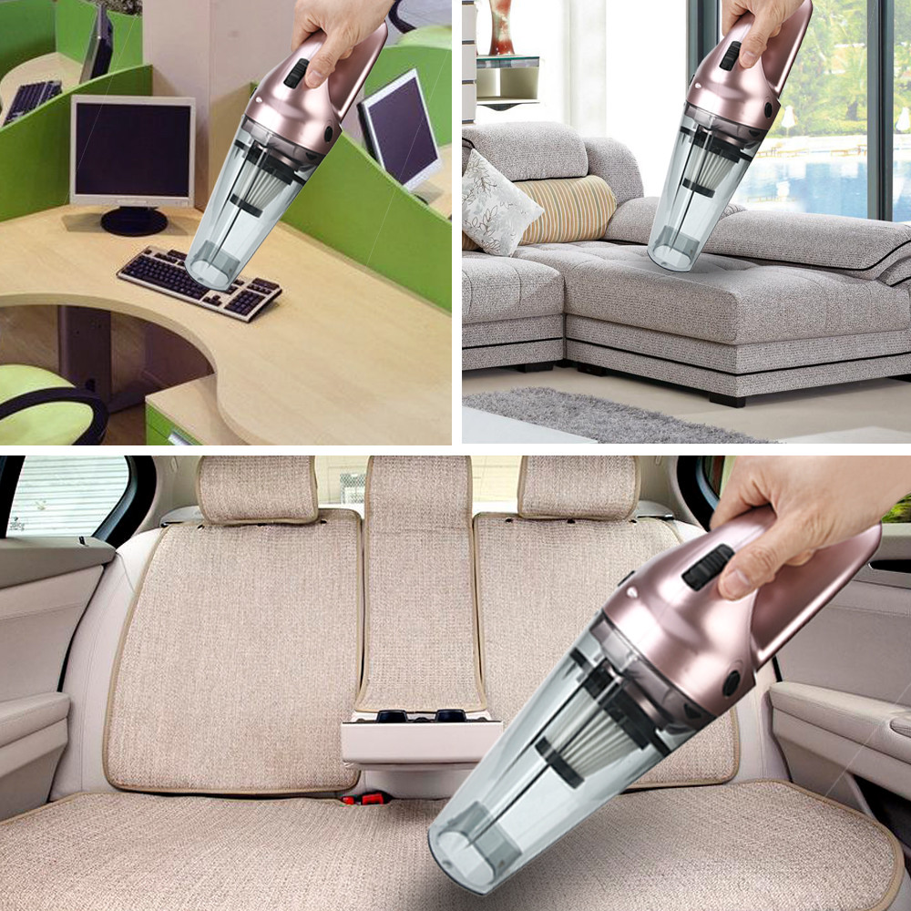 Car-styling 12V Hand Vacuum Cleaner,75dB Silent Pet Hair Vacuum for Home Car Cleaning New arrival