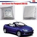 Accesorio del coche Al Aire Libre Anti UV Dom Lluvia Nieve Resistente A Prueba de Polvo Cubierta Del Coche Para Peugeot 206 CC