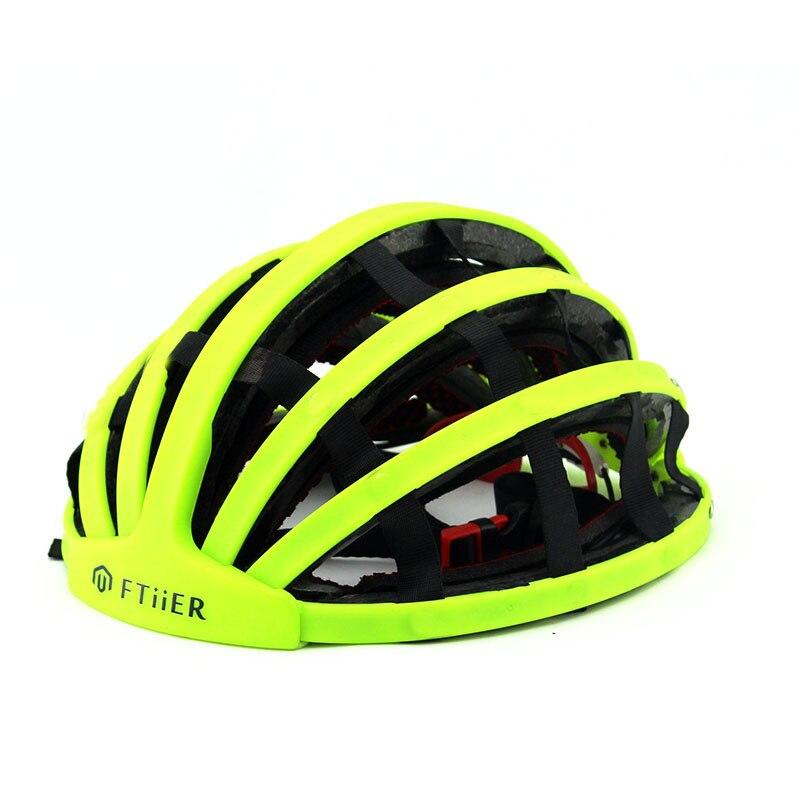 Dobrável capacete da bicicleta dobrável capacete ultraleve unisex ciclismo capacetes de estrada homem mulher capacete