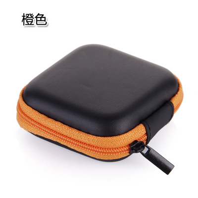 Mobile phone charger data line package mini portable anti pressure square headset box Udisk USB Memory card pack family Travel