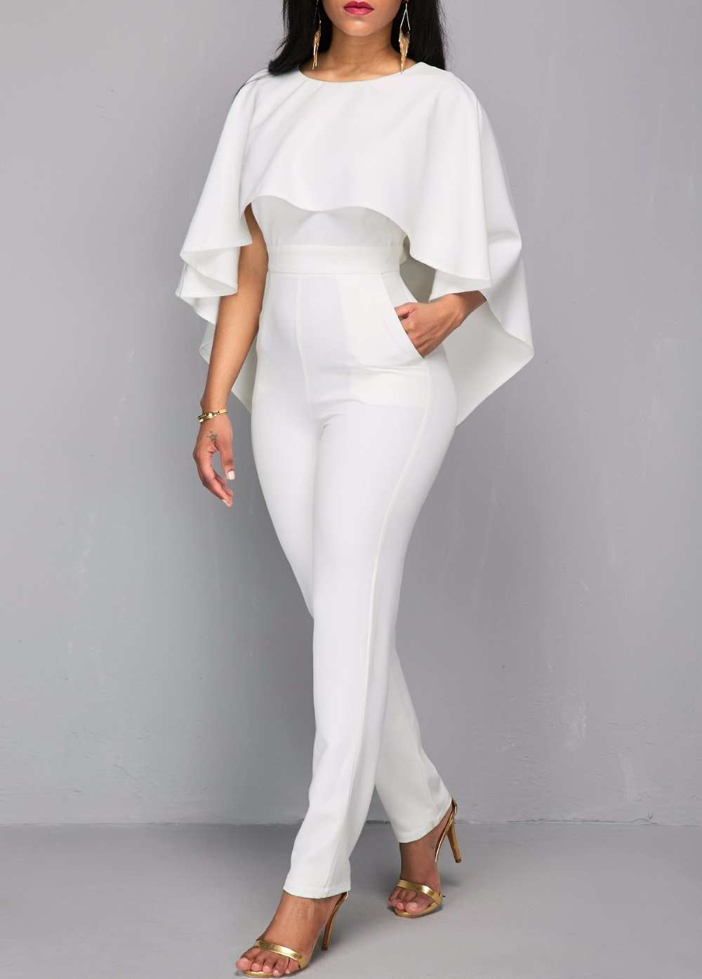 White Jumpsuit For Women - Plain White Romper