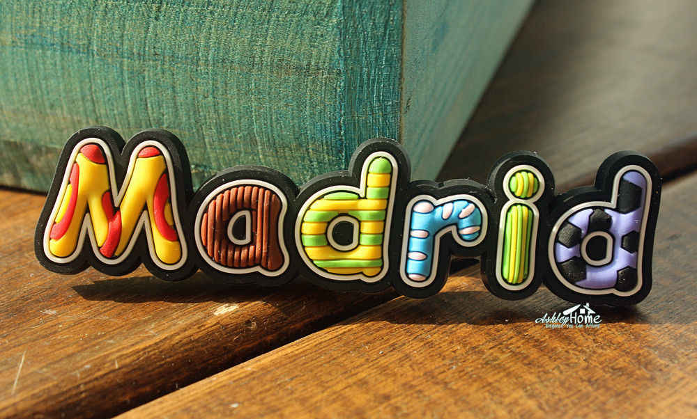 Spain Madrid Colorful Letters Mini Tourist Travel Souvenir Rubber Fridge Magnet