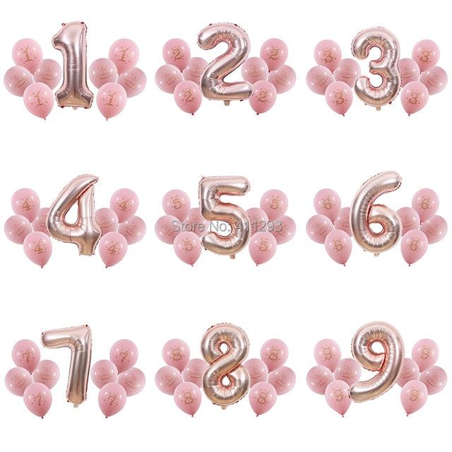 1 2 3 4 5 6 7 8 9 Anni Di Buon Compleanno Palloncino Bambini 1st