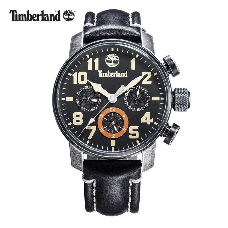 Timberland Original Mens Watches Top Brand Luxury Outdoor Sport Casual Quartz Leather Calendar Water Resistant Men Watch T14783 2