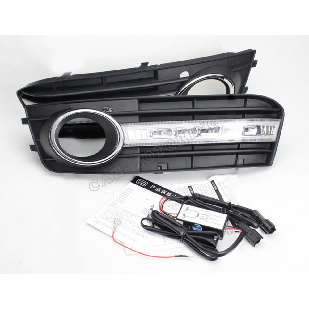 ABS LED Car DRL LED Daytime Running Light CAR-Specific For Audi A4 09-12ABS LED Car DRL LED Daytime Running Light CAR-Specific For Audi A4 09-12