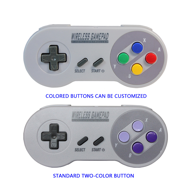 SNES Mini Wireless Gamepad Joystick USB Receiver For Super For SNES 2.4GHz Wireless Controller