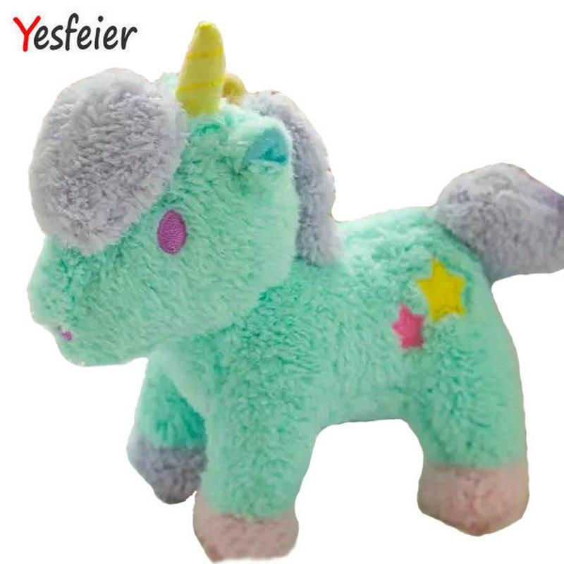 20cm 1 piece 2016 new style Cartoon gemini unicorn doll plush toy sucker pendant bags pendant kids toys