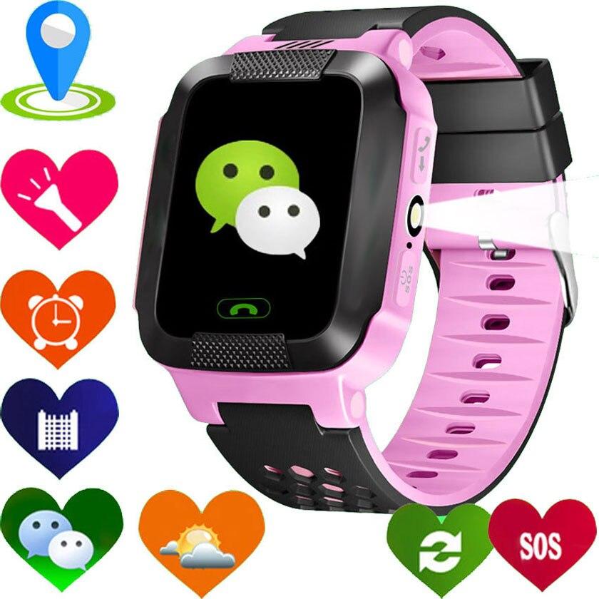 imágenes para 2017 Smart niños Reloj GPS GPRS Kid Reloj Y21 2G GSM Rastreador Anti-perdida inteligente niño iluminación gratis gratis