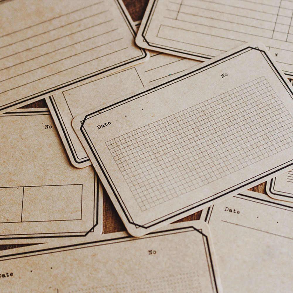 16 feuilles/paquet Plan de travail créatif papier Kraft Notes autocollantes poste bloc-Notes Kawaii papeterie accessoire de bureau fournitures scolaires