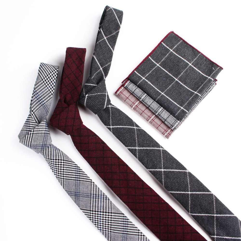 TagerWilen 男性のネクタイちょうセットカジュアルクラシックなチェック柄ストライプポケットスクエア結婚式ギフトスーツ Hankies ネクタイセット T-264