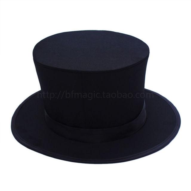Holiday Sales Folding Top Hat - black, spring cap, magic props tricks Free shipping