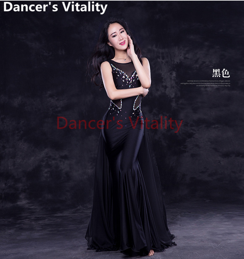 Belly Dance Clothes Mesh Stones Belly Dance Dress Girls Belly Dance Clothing Performance Belly Dance Dress Costumes For Women