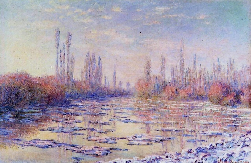 High quality Oil painting Canvas Reproductions Floating Ice on the Seine (1880)   by Claude Monet hand paintedHigh quality Oil painting Canvas Reproductions Floating Ice on the Seine (1880)   by Claude Monet hand painted