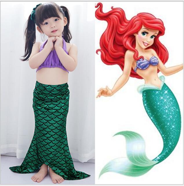 New Sale Children Baby Girls Kids Mermaid Tail Bath Split Swimsuit Costume Swimsuit Bikini Set Dress