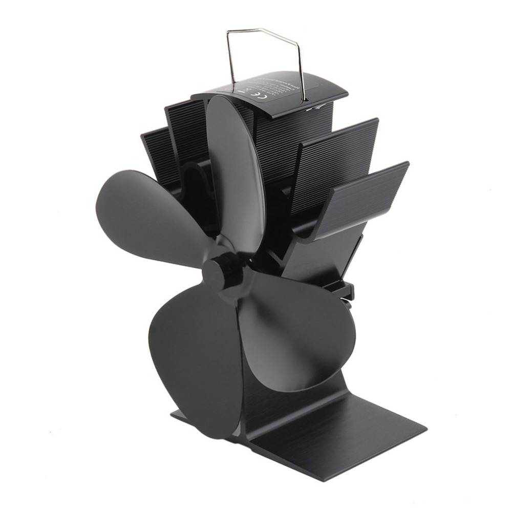4 Blades Black Heat Powered Stove Fan Fuel Saving Stove Fan for Wood Burner/ Fireplace-Eco Friendly factors influencing adoptionm of fuel efficient injera baking stove